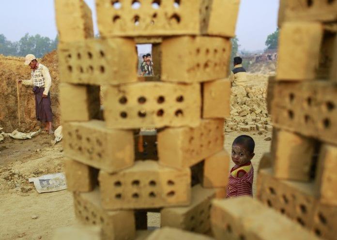 brick construction Myanmar kiln