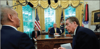 "Robert Lighthizer, the top American trade negotiator, talked with Vice Premier Liu He of China in October. Mr. Lighthizer has called the new deal ""remarkable."""